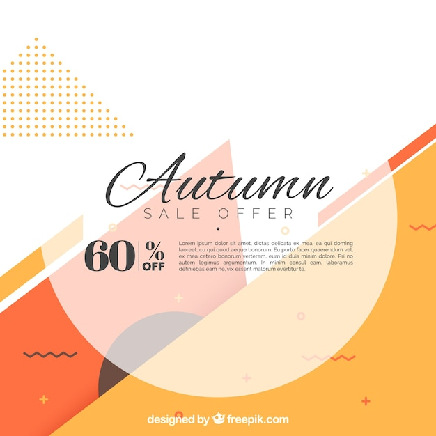 Autumn sale background Free Vector