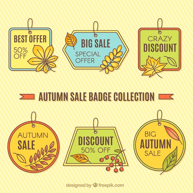 Autumn sale badge collection