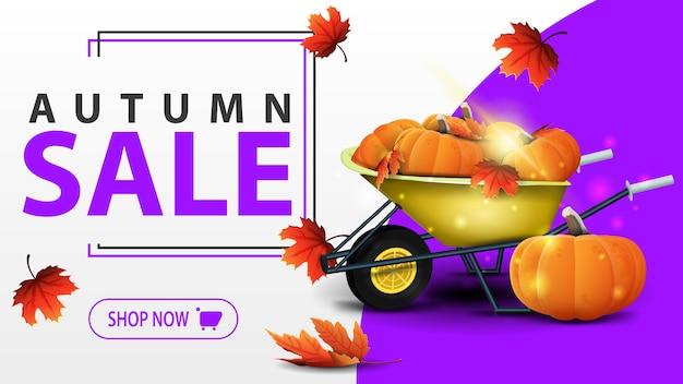 Autumn sale banner template Premium Vector