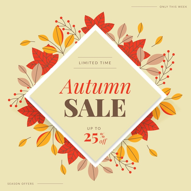 Осенняя распродажа баннер Бесплатные векторы