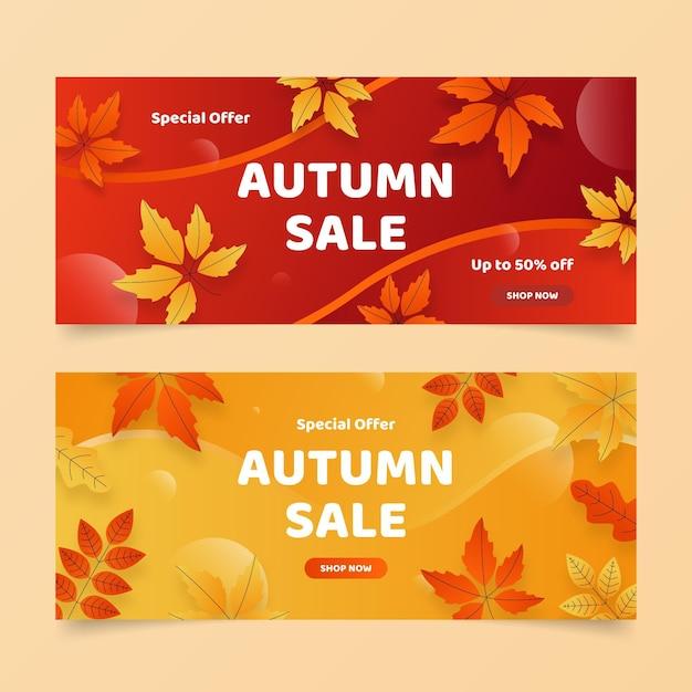 Осенняя распродажа баннеров Бесплатные векторы
