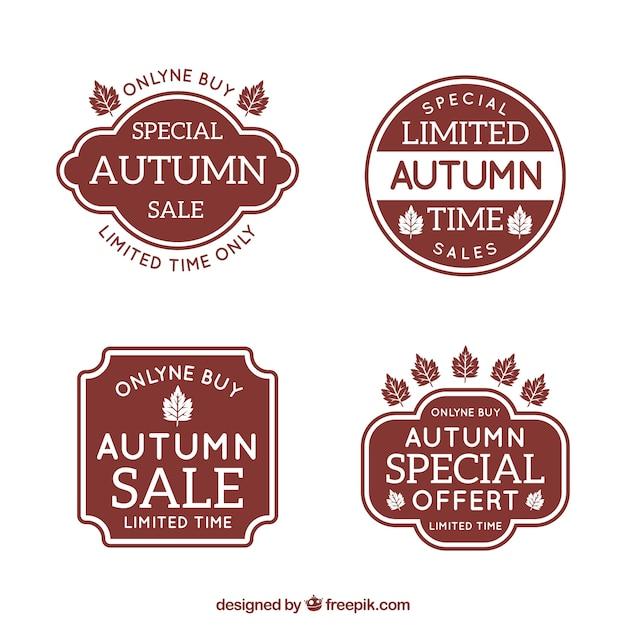 Autumn sale labels Free Vector