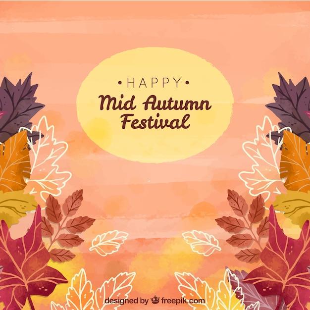 Autumn scene, mid autumn festival
