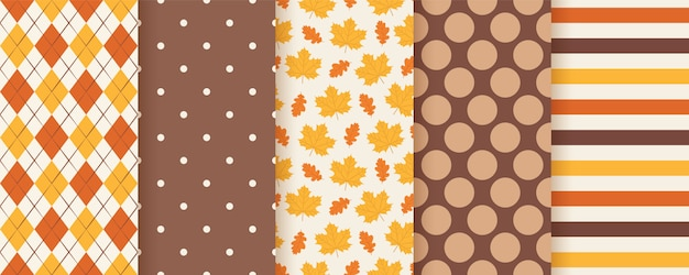 Autumn seamless pattern.  . background with fall leaves.