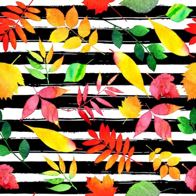 Autumn seamless pattern Free Vector