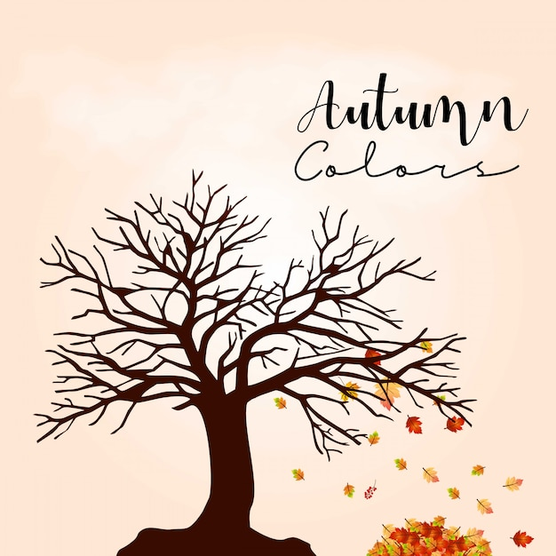 Autumn season design with light background vector Free Vector