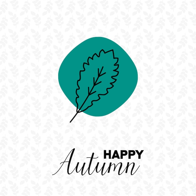 Autumn season with pattern background design\ vector
