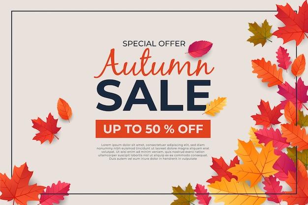 Autumn thanksgiving day banner leaf background celebration quotation Premium Vector