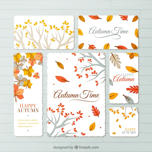 autumn time stationery vector free download