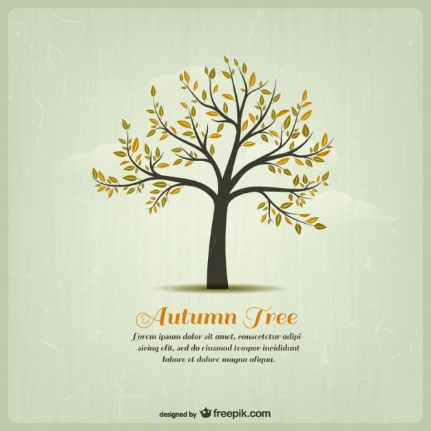 Autumn tree template Free Vector