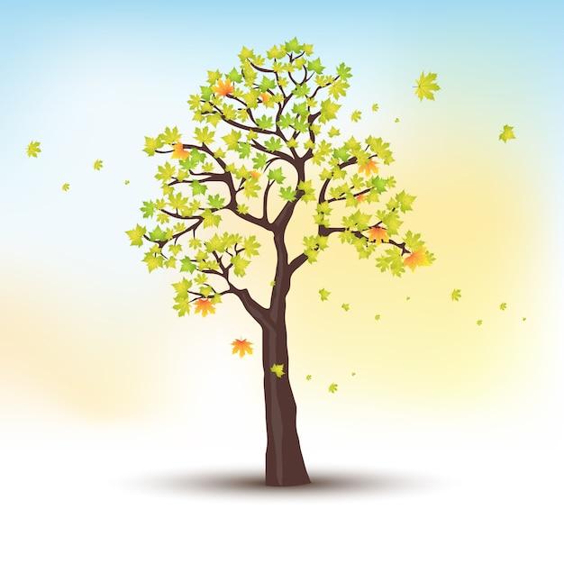 秋の木 Premiumベクター