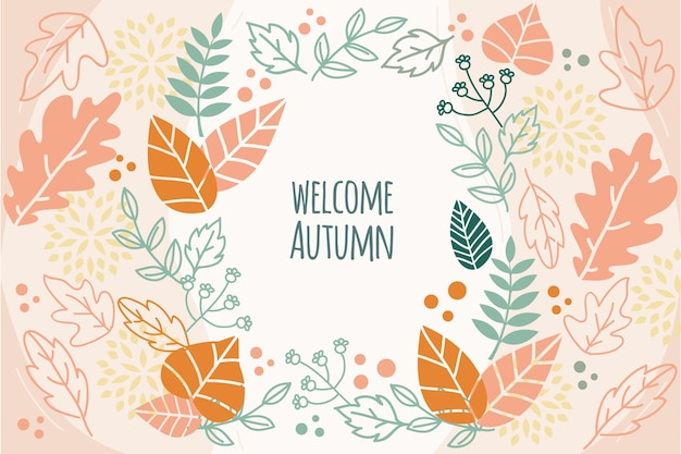 Autumn wallpaper design Free Vector
