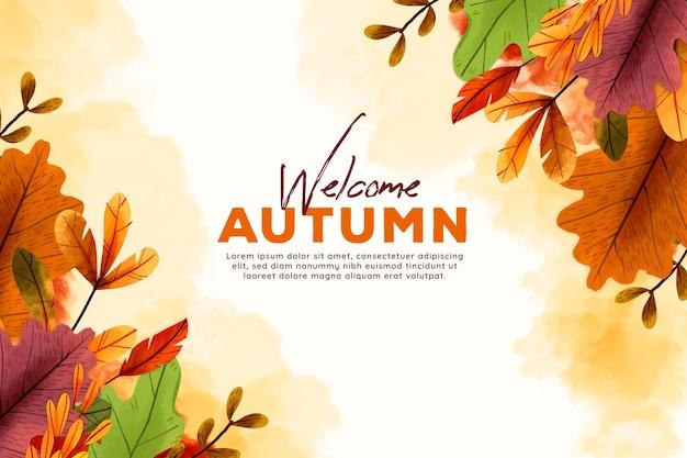 秋の壁紙テーマ Premiumベクター