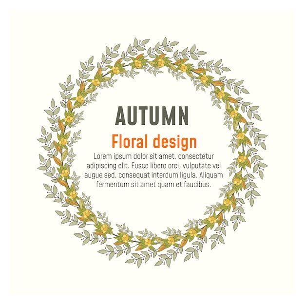 Autumn Wreath and frames. Fall leaves. Vector | Premium Download