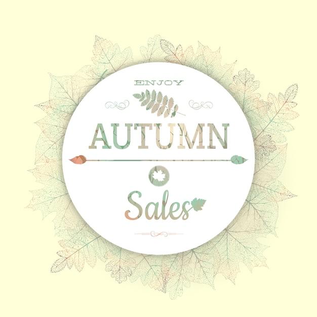 落ち葉で秋のフレーム。 Premiumベクター