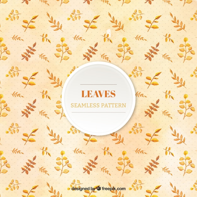 Autumnal pattern with different types of leaves Free Vector
