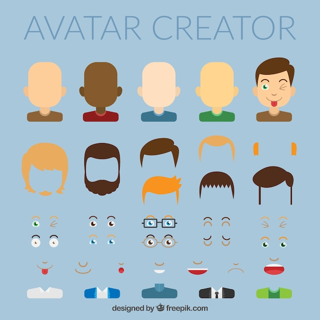 avatar creator vector premium download