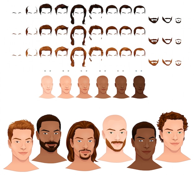 Avatar with different preferences Free Vector
