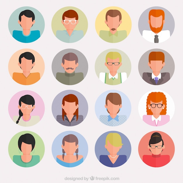 Avatars of business people