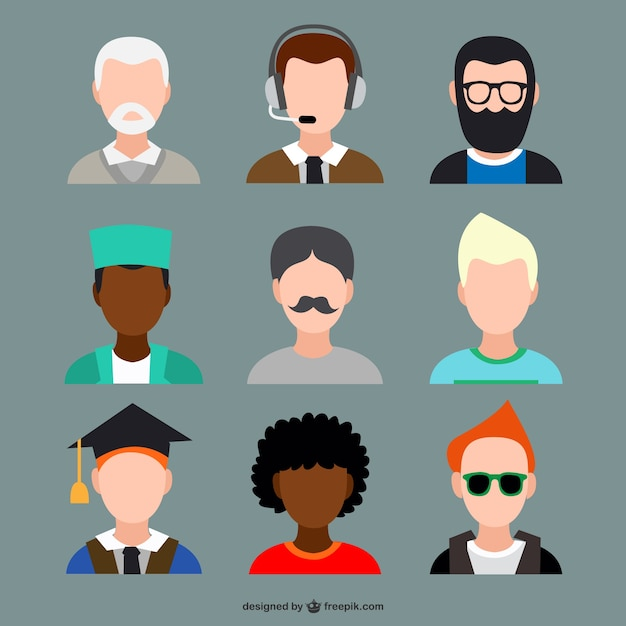 Avatars Sets Free Vector