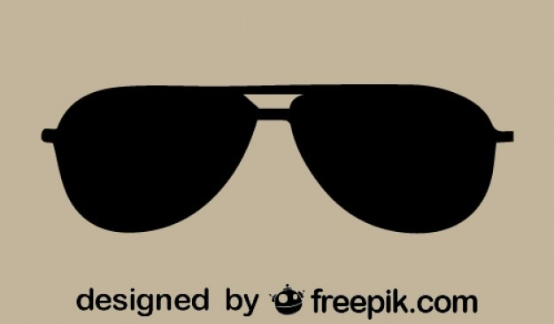 Aviator sunglasses icon Free Vector