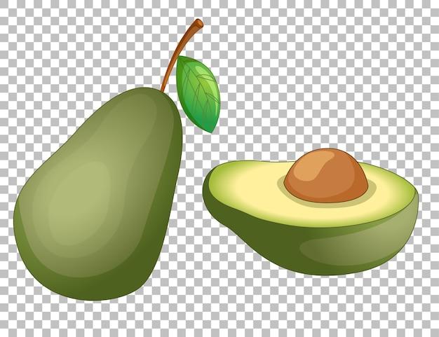 Мультфильм авокадо на прозрачном Бесплатные векторы