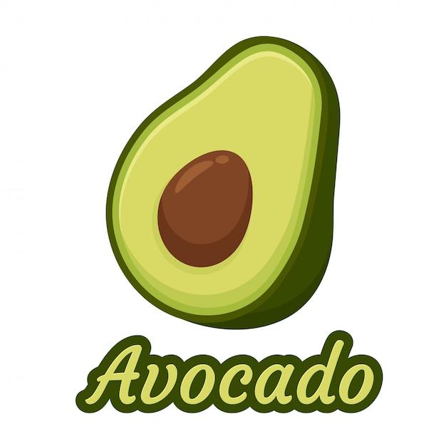 Авокадо иллюстрация Premium векторы