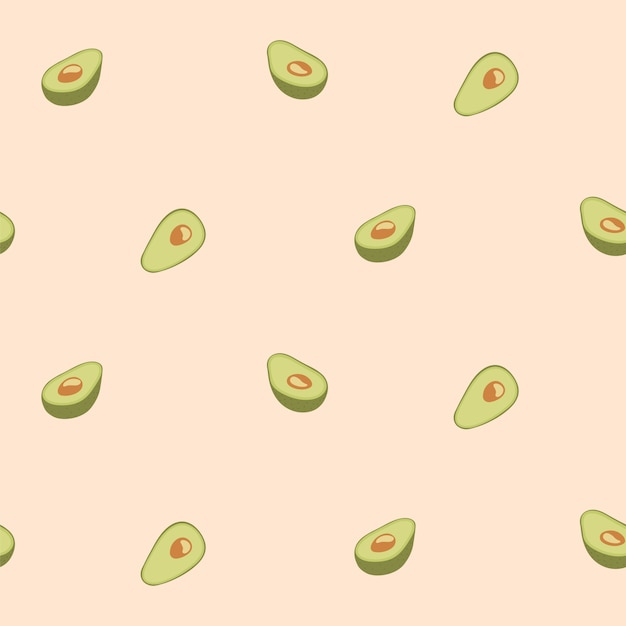 Avocado Seamless Pattern For Print Fabric Or Wallpaper