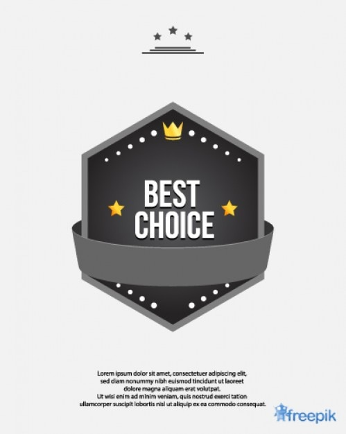 Award Best Choice Free Vector