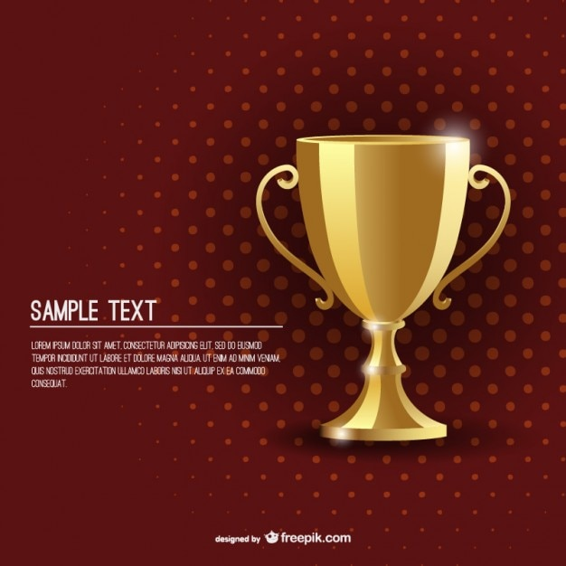 Award golden cup background template Free Vector