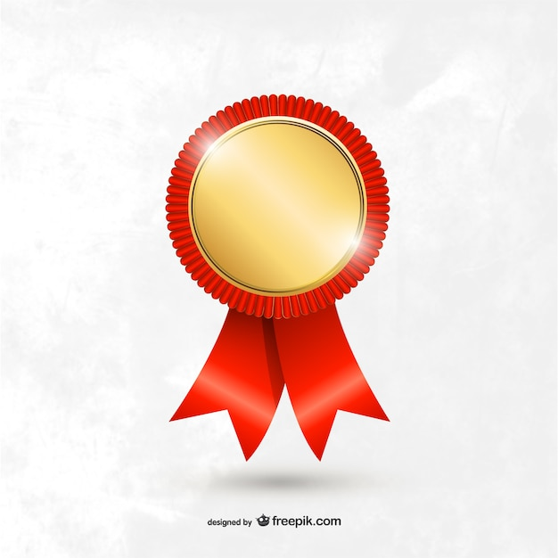 Award medal template Free Vector