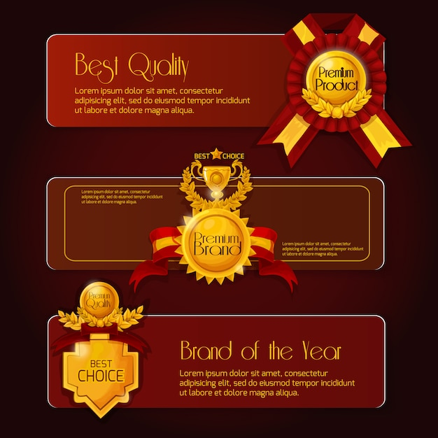 Award sale banners Free Vector
