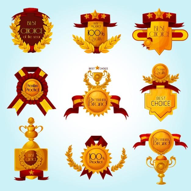 Award sale emblems Free Vector