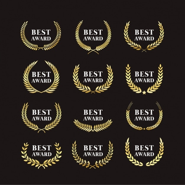 Awards badges Free Vector