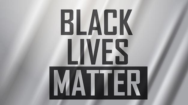 人種差別に対する意識向上キャンペーン私は息をすることができないポスターバナー黒の生活問題 Premiumベクター