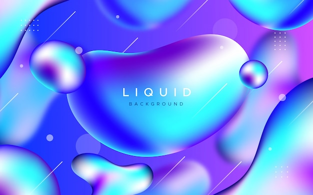 Awesome background with liquid shapes Free Vector
