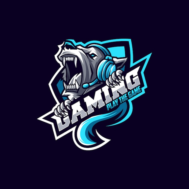 Awesome bear logo design vector Premium Vector