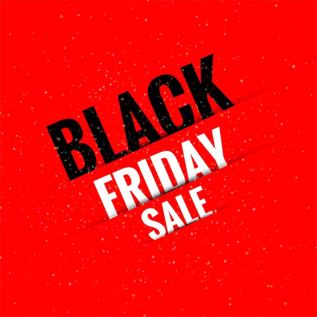 Awesome black friday sale banner Free Vector