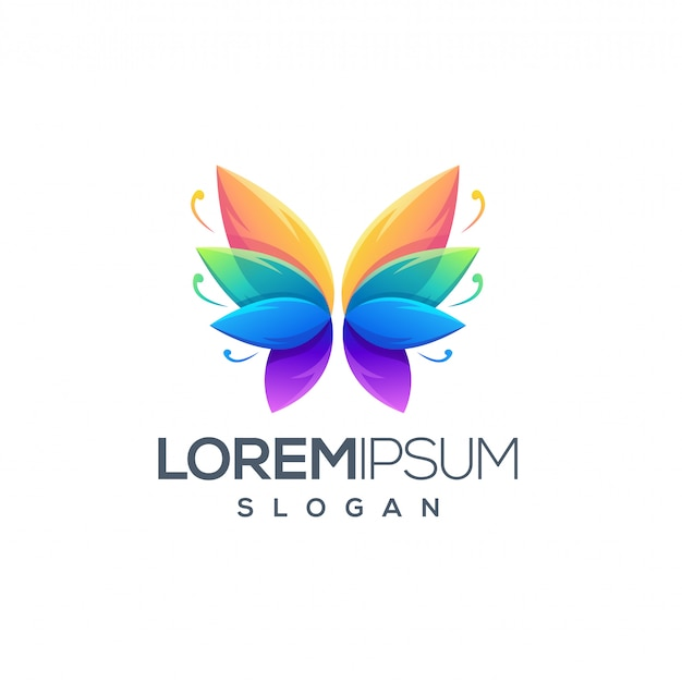 Awesome butterfly logo design design vector Premium Vector