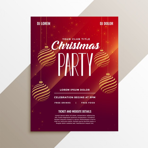 awesome christmas party flyer layout template vector free download