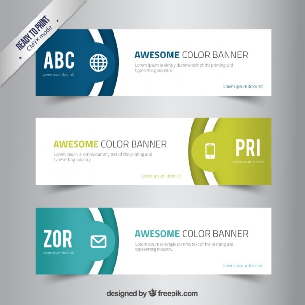 Awesome color banners vector free download awesome color banners free vector maxwellsz