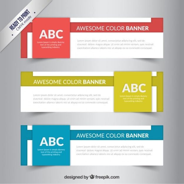 Awesome color banners Vector | Premium Download