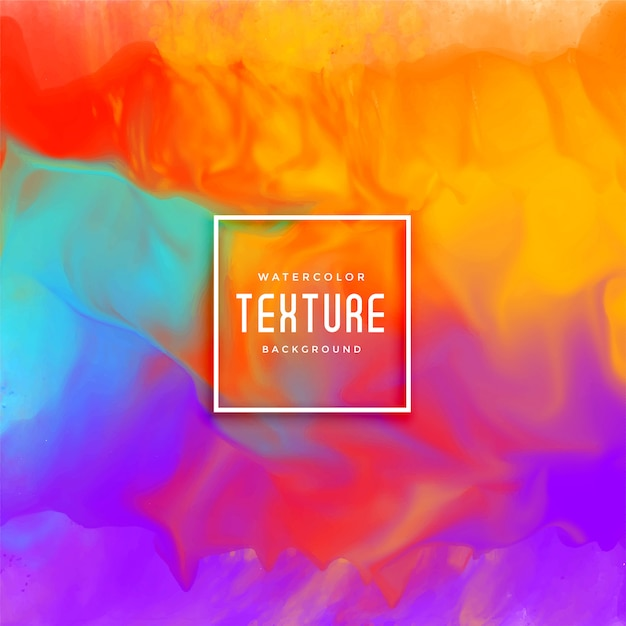 Awesome colorful watercolor texture background Free Vector
