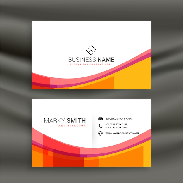 Awesome colorful wave business card design vector free download awesome colorful wave business card design free vector reheart Images