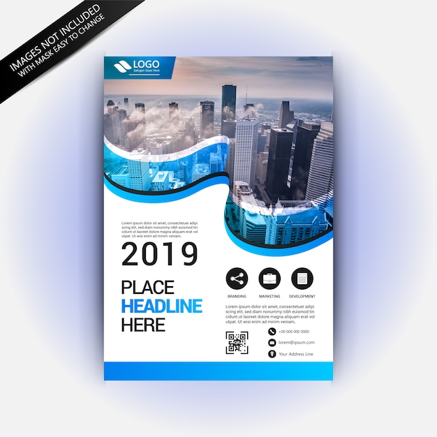 Awesome Flyer Template With Traveling Concept Vector Premium Download