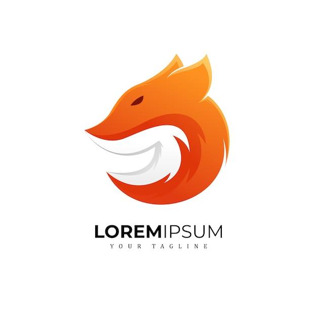 Awesome fox logo premium Premiumベクター