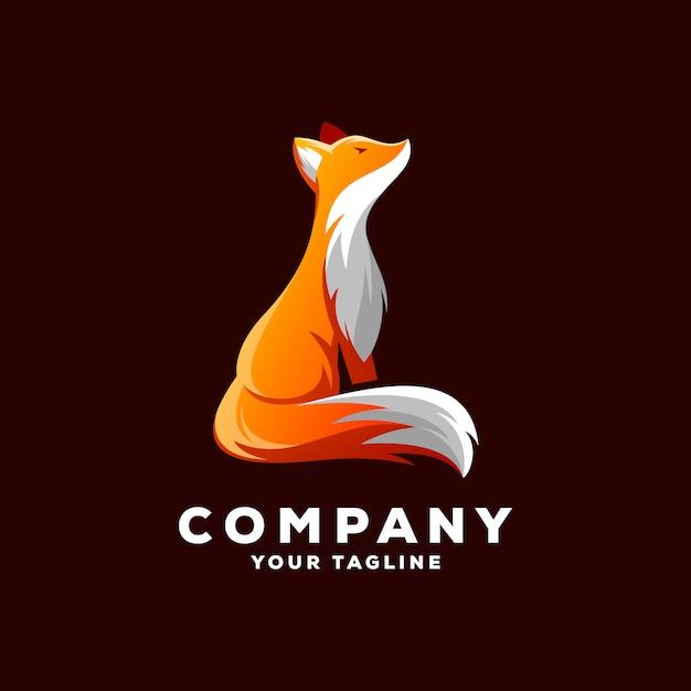 Awesome fox logo vector Premium Vector
