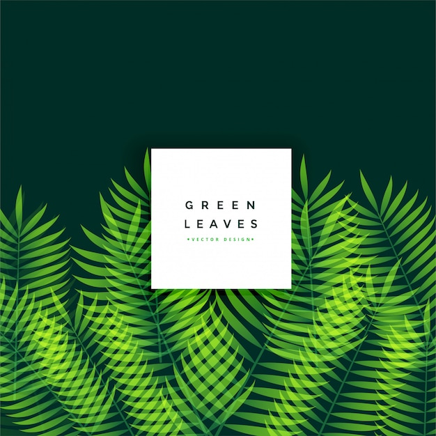Awesome green leaves background design Free Vector