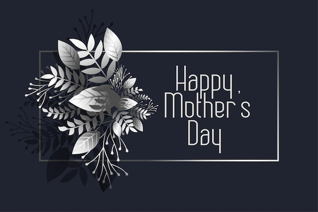 Awesome happy mother's day dark greeting Free Vector
