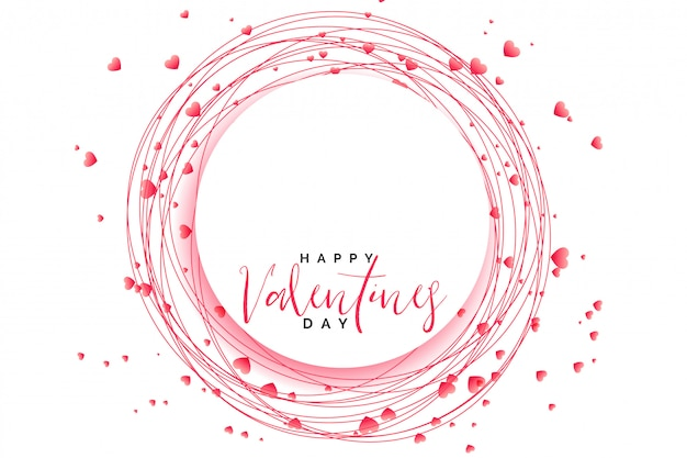 Awesome hearts frame for valentines day Free Vector